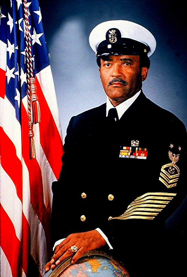 Master Chief Petty Officer Carl M. Brashear, the Navy's first African-American master diver.