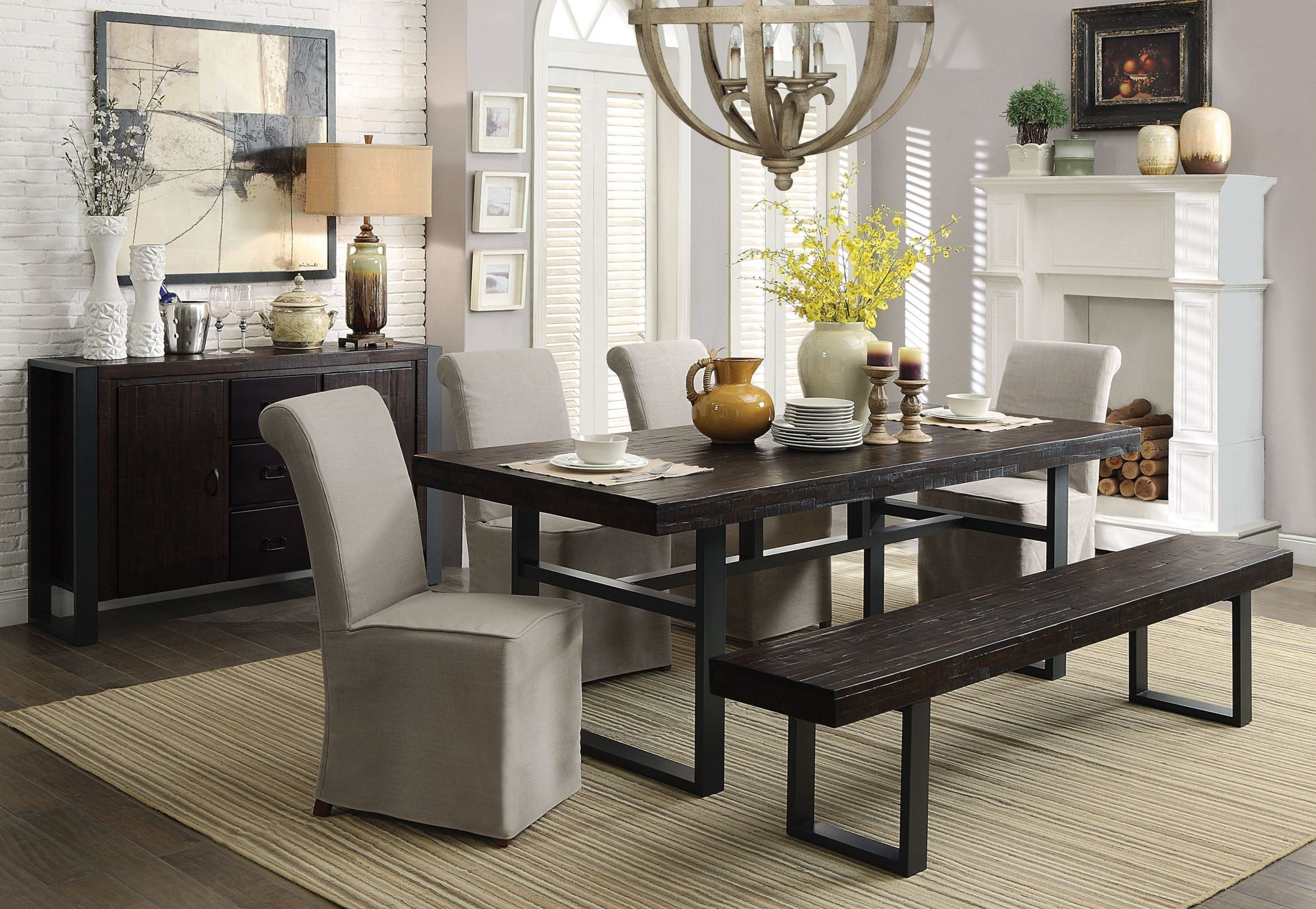 Keller Reclaimed Wood Dining Room Set Reclaimed Wood Dining