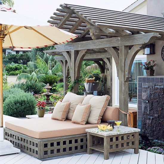 17 Great Ideas for Better Outdoor Living | Outdoor living ... on Living Spaces Outdoor Daybed id=88247