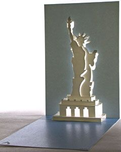 Statue Of Liberty Pop Up Card Evermore Design Pop Up Shopping Card Pop Up Cards