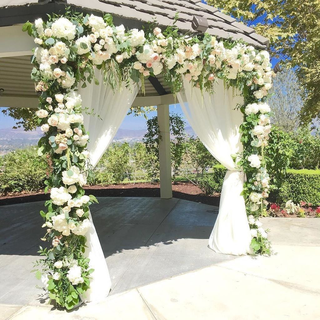 White Luxury Wedding Decor With Wonderful And Beautiful: Gazebo Wedding, Gazebo Wedding Decorations