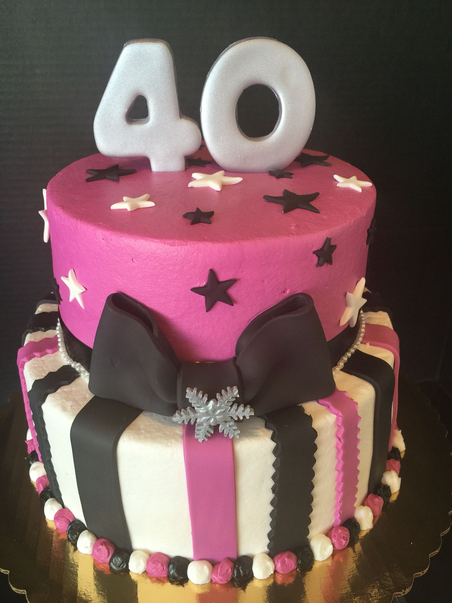 40th birthday party cake Frosted Flour Cakes Pinterest
