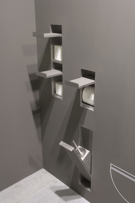 Einbau Toilettenpapierhalter Aus Edelstahl Sesamo By Arkimera Antonio Lupi Toilet Design Bathroom Design Amazing Bathrooms