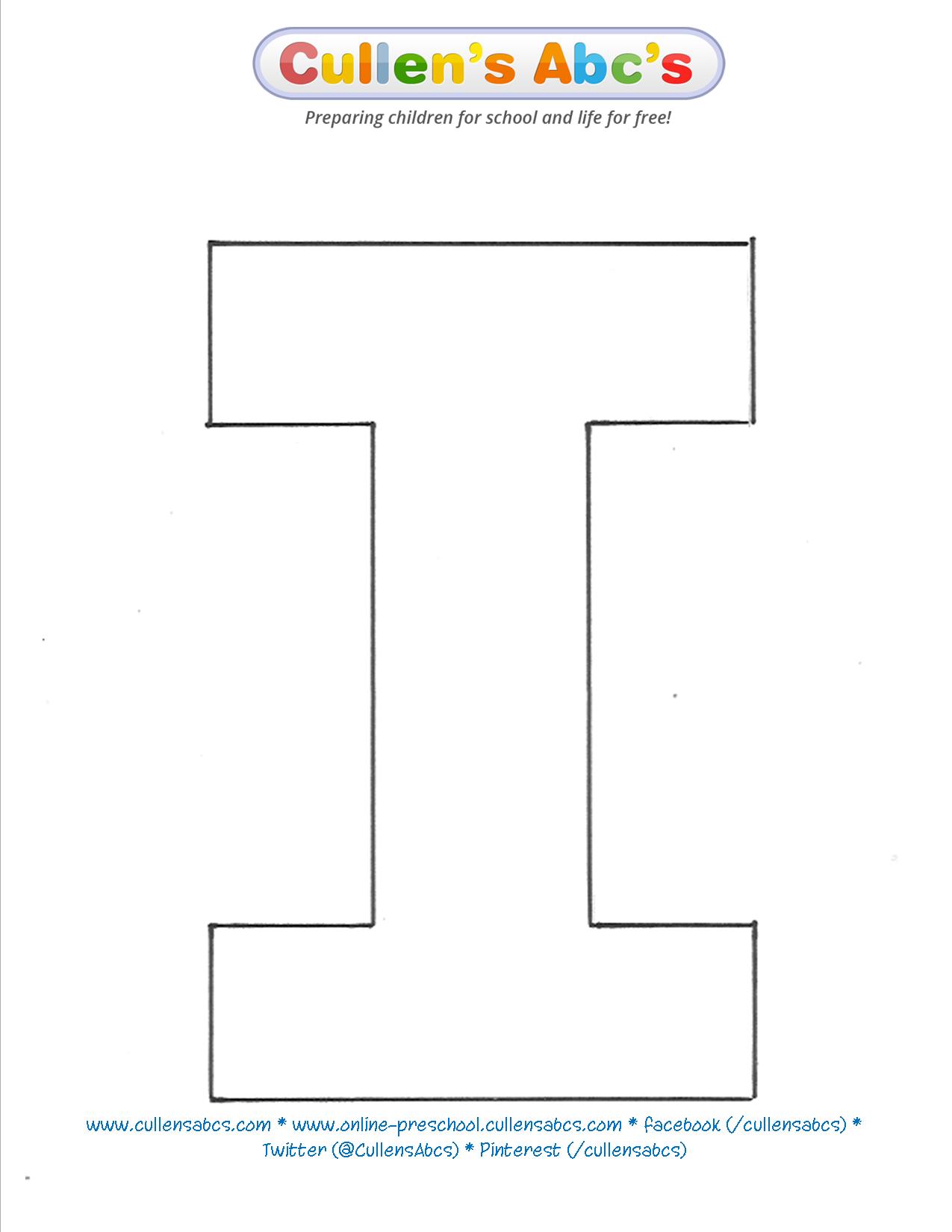 Uppercase Letter I Pattern