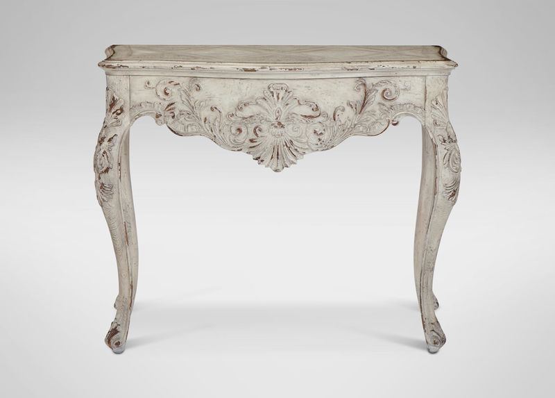 Joelle Large Console Vintage Shabby Chic Decor Rococo Furniture Living Room Console