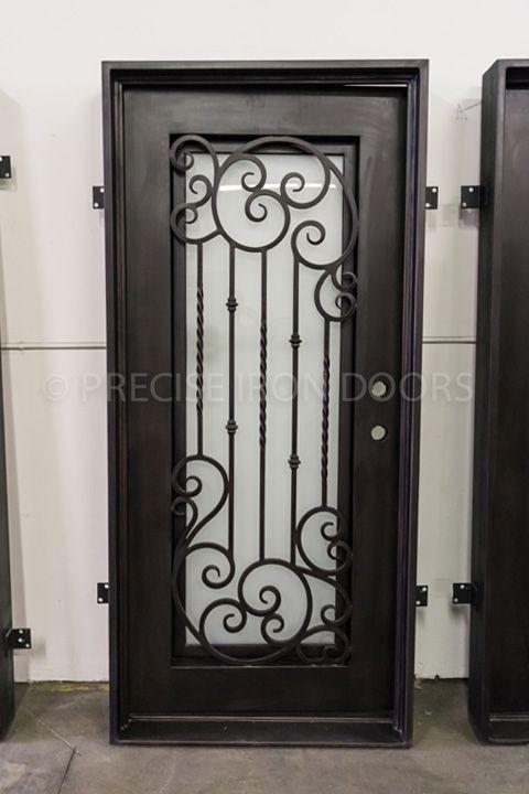 37 X 81 Entry Iron Door Custom Wrought Iron Doors Wholesale