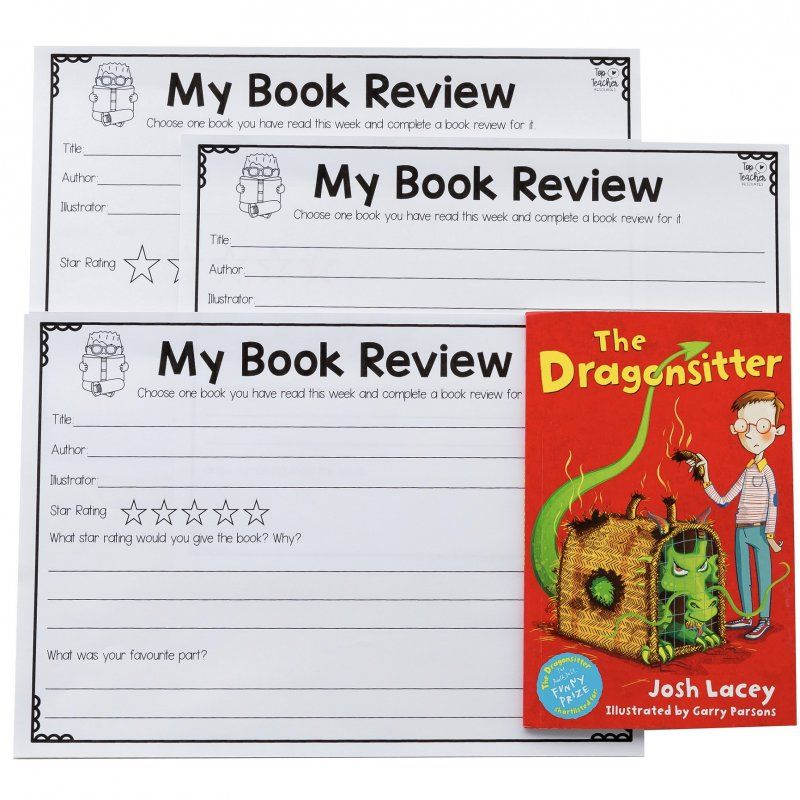 Book review template available in three different formats