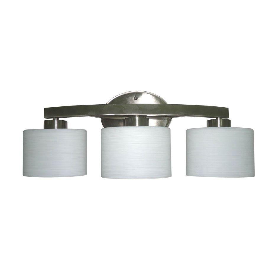 lowes bathroom fixtures. Shop Allen + Roth 3-Light Merington Brushed Nickel Bathroom Vanity Light At Lowes. Lowes Fixtures N
