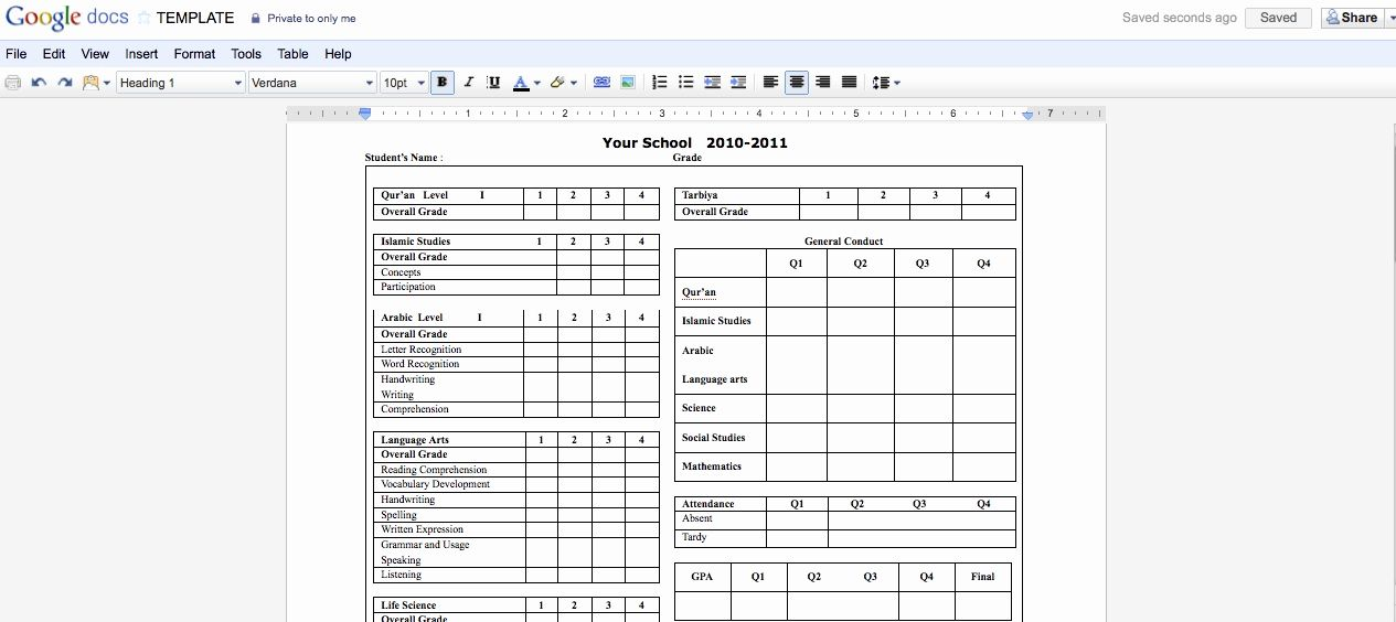Report Card Templates Free New Collaborative Report Cards Using