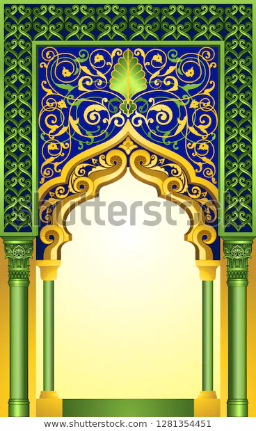 Decorative Islamic Arch Design Ideal Poster Stock Vector Royalty Free 1281354451 In 2020 Islamic Art Pattern Islamic Art Pattern Art