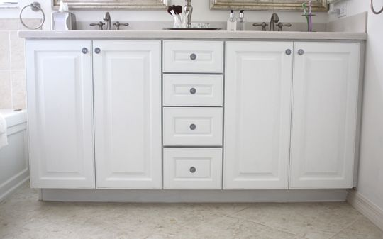 How to paint cabinets without removing doors | Painting ...