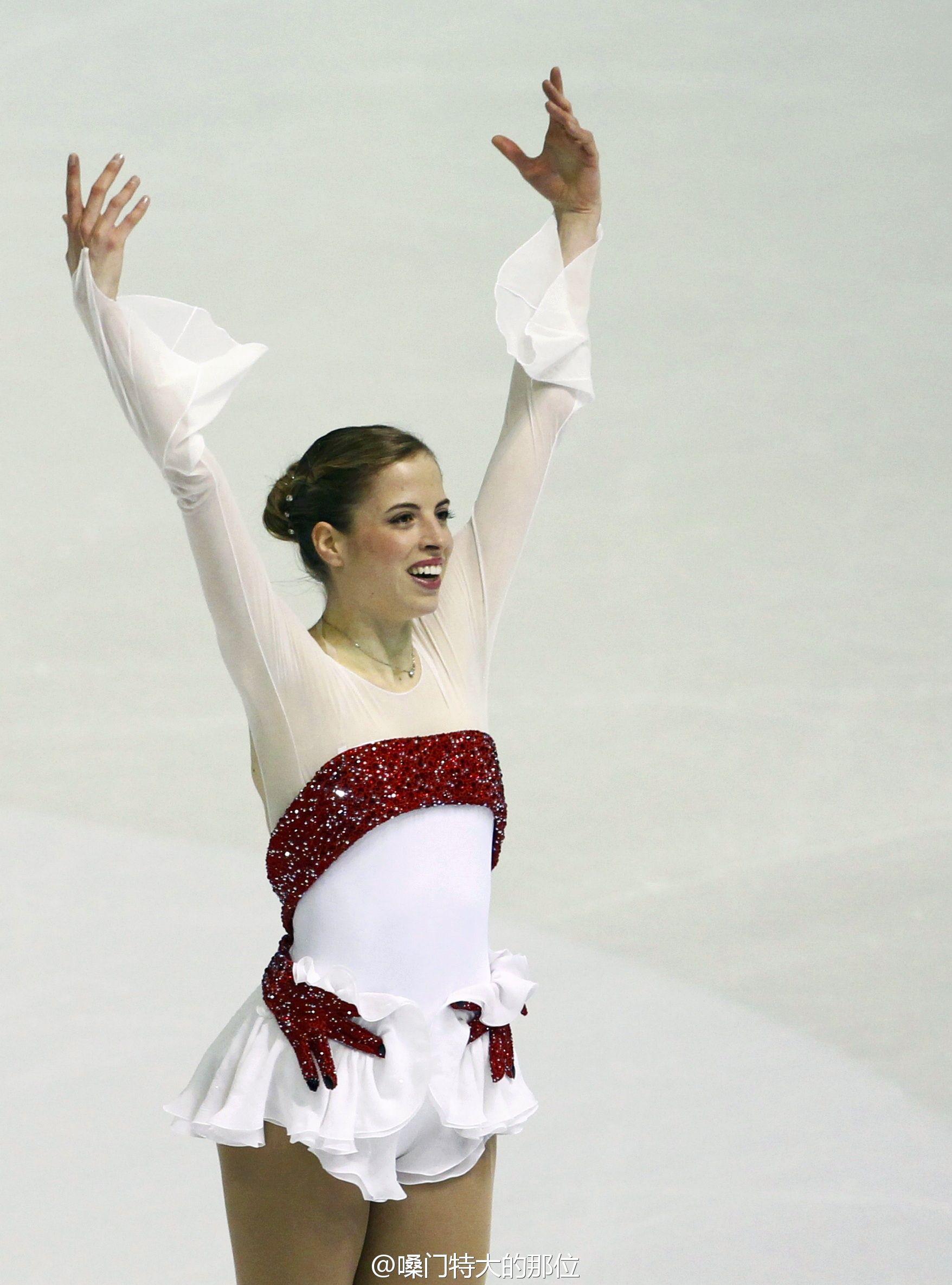 Carolina KostnerWhite Figure Skating / Ice Skating dress inspiration for Sk8 Gr8 Designs.