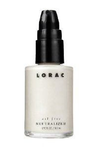 LORAC Oil Free Neutralizer, 0.9 Fluid Ounce by LORAC Cosmetics, Inc.. $30.00. Specially tinted liquid to correct and conceal underlying red tones. Wear alone or mix with foundation. 100% oil and fragrance free. Ideal for sensitive skin. Created for women with sensitive skin, oil free neutralizer is a specially tinted makeup which helps correct and conceal redness and imperfections. Neutralizer is infused with rich botanicals such as aloe, comfrey, and chamomile to calm and...