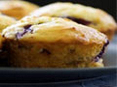 Muffins con arándanos - receta de magdalenas
