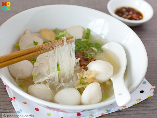 Easy chinese recipe for tang hoon glass noodles cooked for How to make fishing noodles