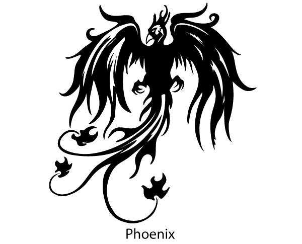 Phoenix Bird Vector Silhouette Free Bird Silhouette Art Silhouette Art Bird Silhouette