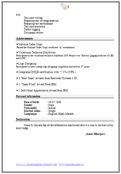 Computer Engineering Resume Format Download   Career