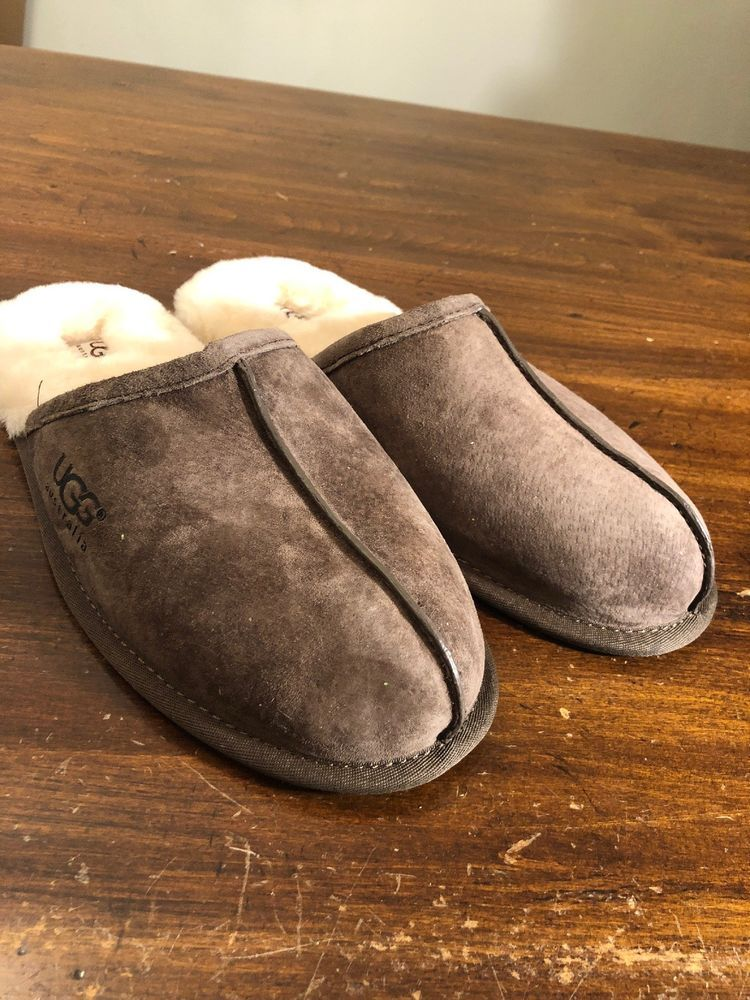 c2fba8002ee UGG Australia Scuff 5776 Espresso Sheepskin Slippers Men s Size 11 New   fashion  clothing