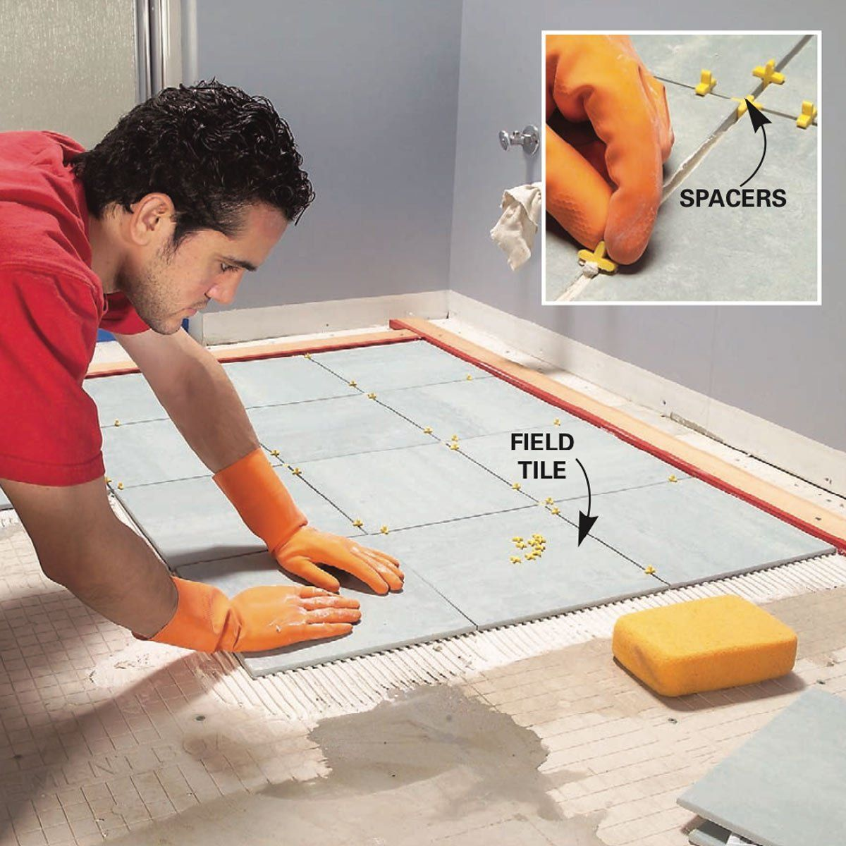 How To Install Ceramic Tile Floor In The Bathroom Ceramic Floor Tiles Tile Floor Diy Tile Floor