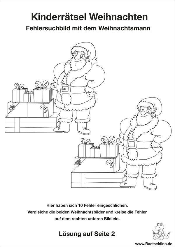 Weihnachtsbilder Suchen.Kinderrätsel Zu Weihnachten Adventskalender Rätsel Für Kinder