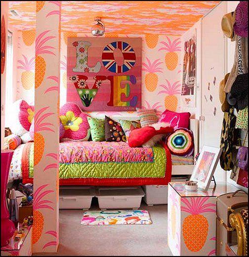 wonderful little girls bedroom design ideas tropical girl bedroom with full color interior design - Funky Bedroom Ideas