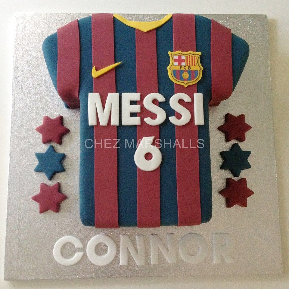 b74f7e909 Football Shirt Cake Barcelona Cake