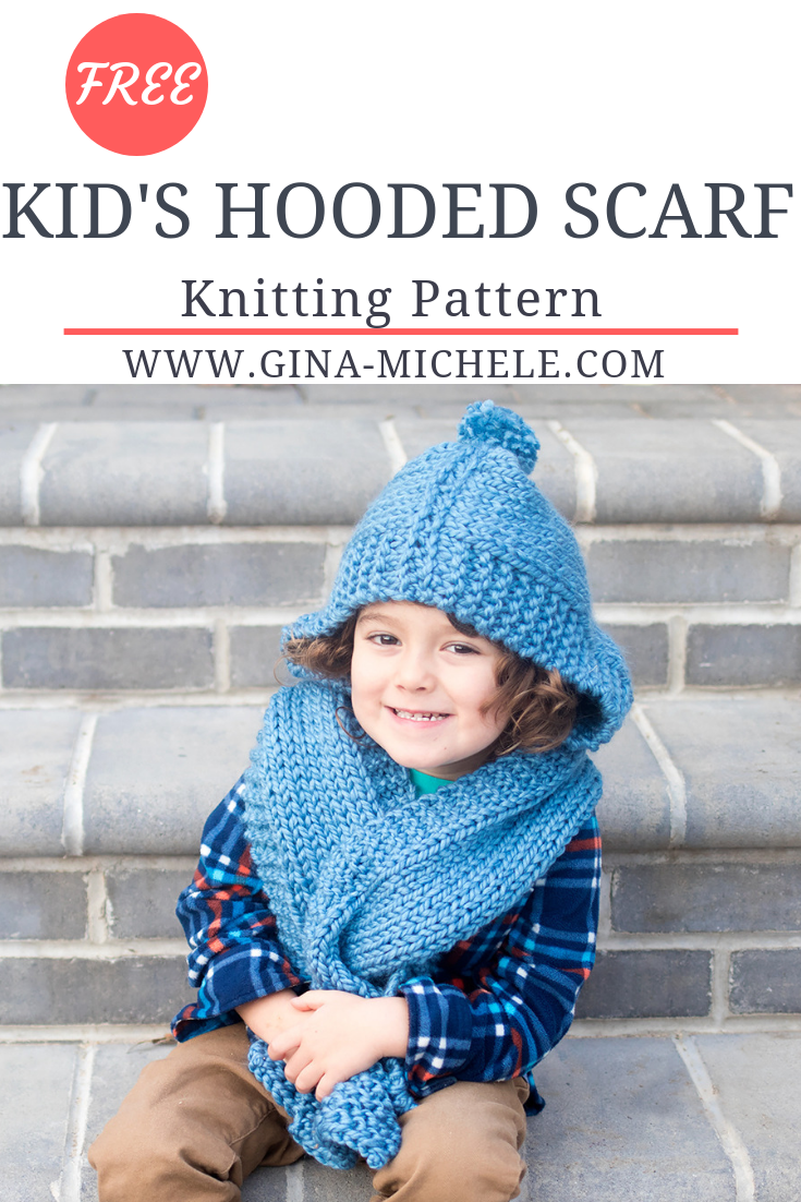 Kid S Hooded Scarf Knitting Pattern My Next Big Project Knitting