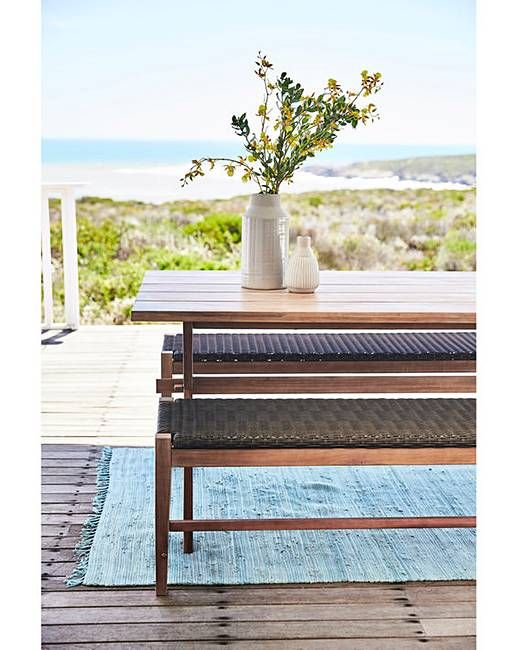 Pleasing Odell Table And Bench Dining Set Garden Balcony Dining Pabps2019 Chair Design Images Pabps2019Com