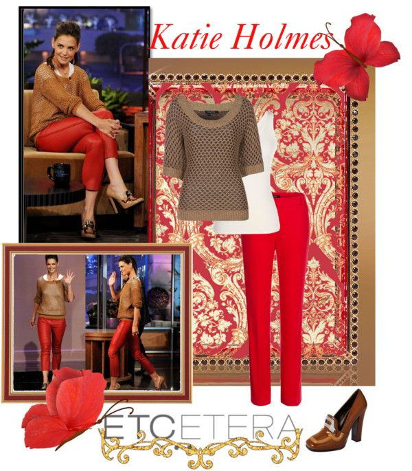"""""""Katie Holmes"""" by lee522 ❤ liked on Polyvore"""