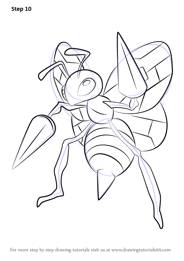 Learn How to Draw Beedrill from Pokemon Pokemon Step by Step