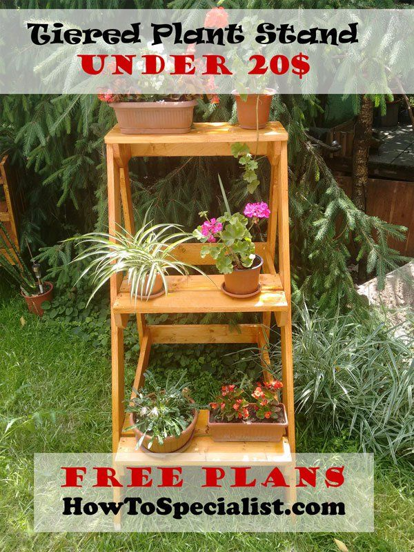 This Diy Step By Project Is About How To Build A Tiered Plant Stand Plans If You Want Learn More Building Beautiful Ladder Shaped