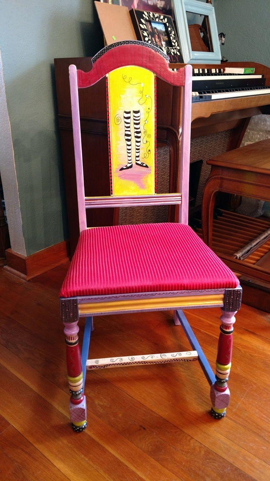 Mary Ann S Chair The Dancing Legs Chair Handpainted Furniture  # Muebles Timotea
