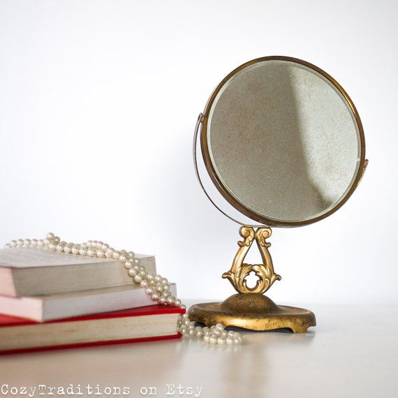 Makeup Mirror On Stand Magnifying Table Mirror By CozyTraditions, $74.00