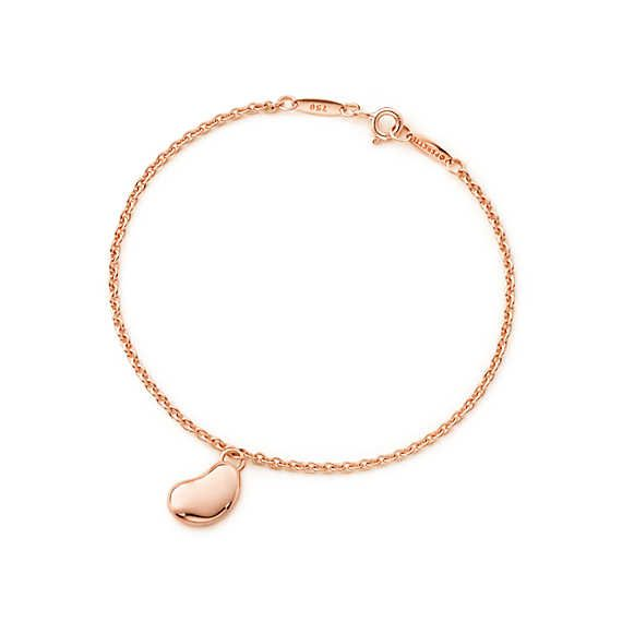 Elsa Peretti® Bean bracelet in 18k rose gold, large.