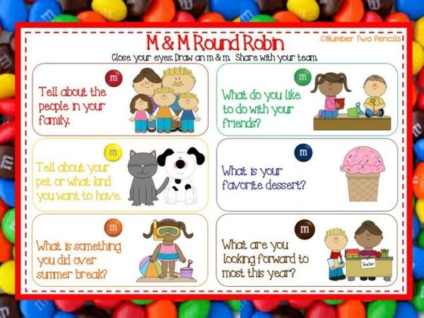m and m get to know you game - Google Search | First day ...
