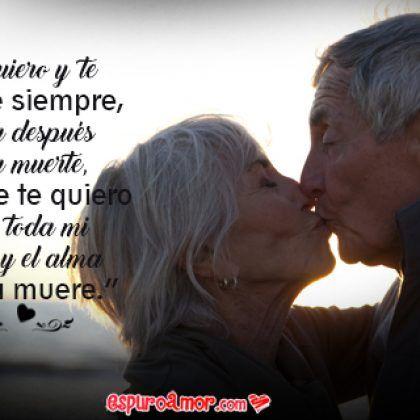 Frase De Amor Verdadero Con Imagen De Pareja De Ancianos Animada En