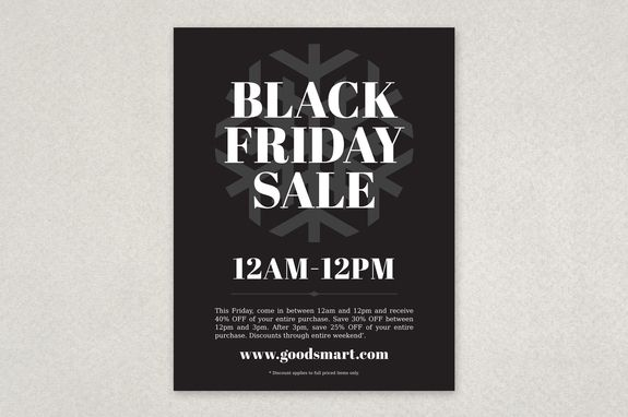 Black Friday Flyer Design Template Sleek \ Sexy Pinterest - black flyer template