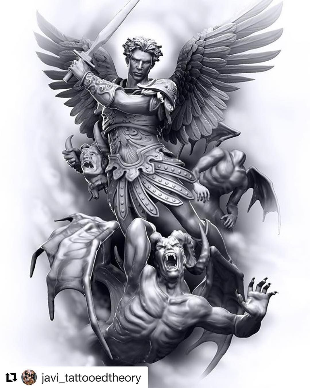 585 Best Coloring Pages Images Archangel Michael Tattoo Saint Small