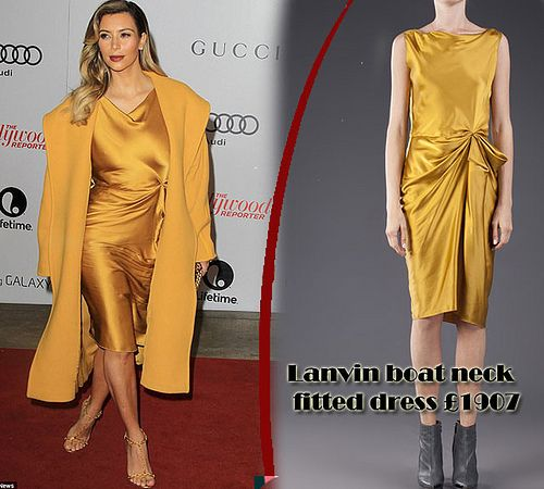 Lanvin-gold-drape-silk-dress, Drape dresses, Lanvin Mustard yellow ...