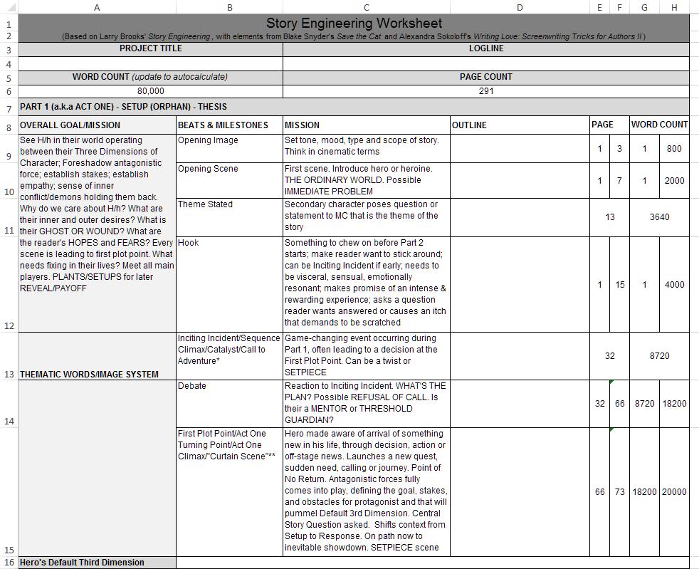 Angela Quarles Story Engineering Worksheet screensot