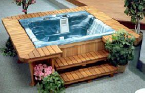 Like The Bar Surround Hot Tub Backyard Hot Tub Outdoor Hot Tub