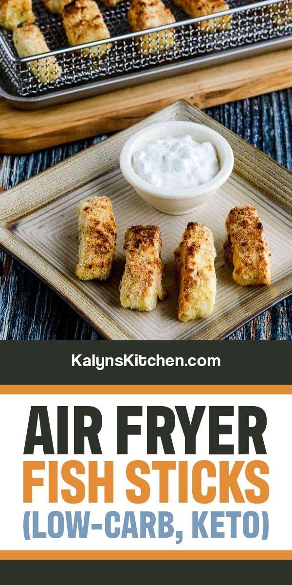 Air Fryer Fish Sticks with homemade Tartar Sauce are a fun