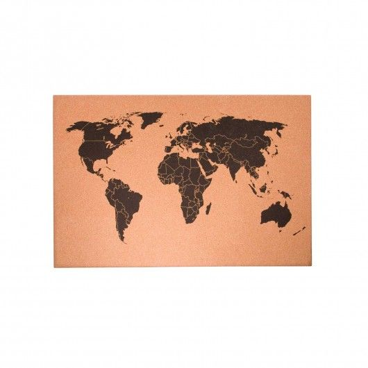 World map cork board gifts and crafts pinterest cork boards world map cork board gumiabroncs Choice Image