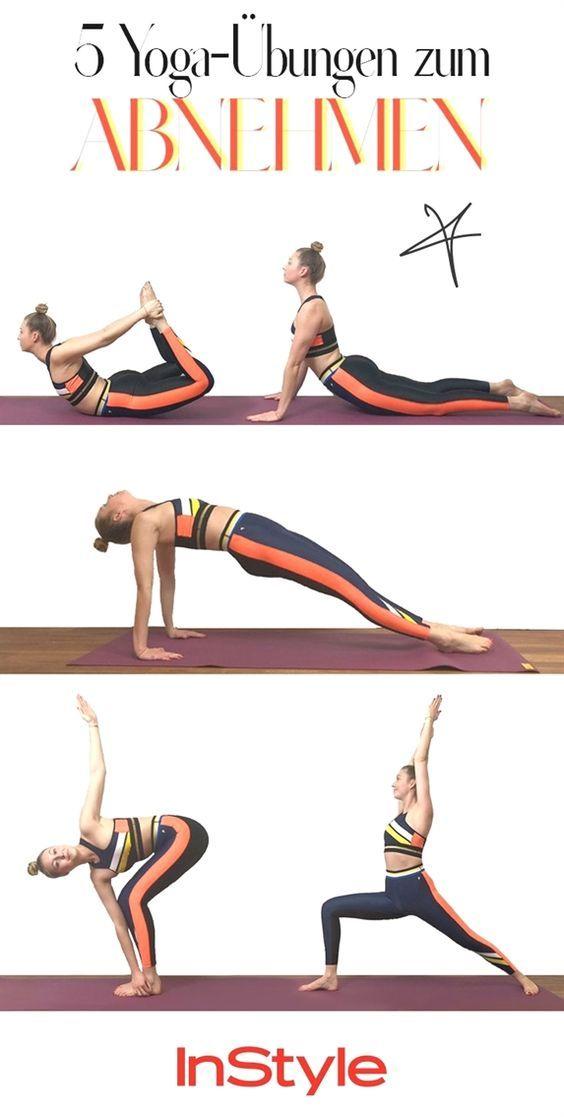 Schlank mit Yoga: Die besten Yoga-Übungen zum Abnehmen #pilatesyoga