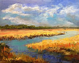 Blue Skies by Jean Rupprecht in the FASO Daily Art Show