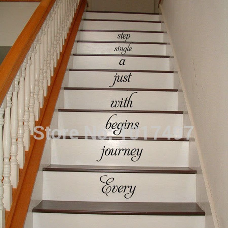 Free Shipping Home Stair Decal Every Journey Begins