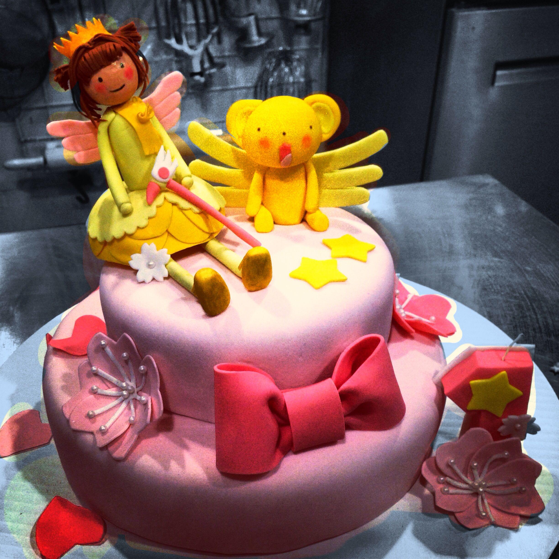 Fondant cake sakura card captor sakura card cake sakura