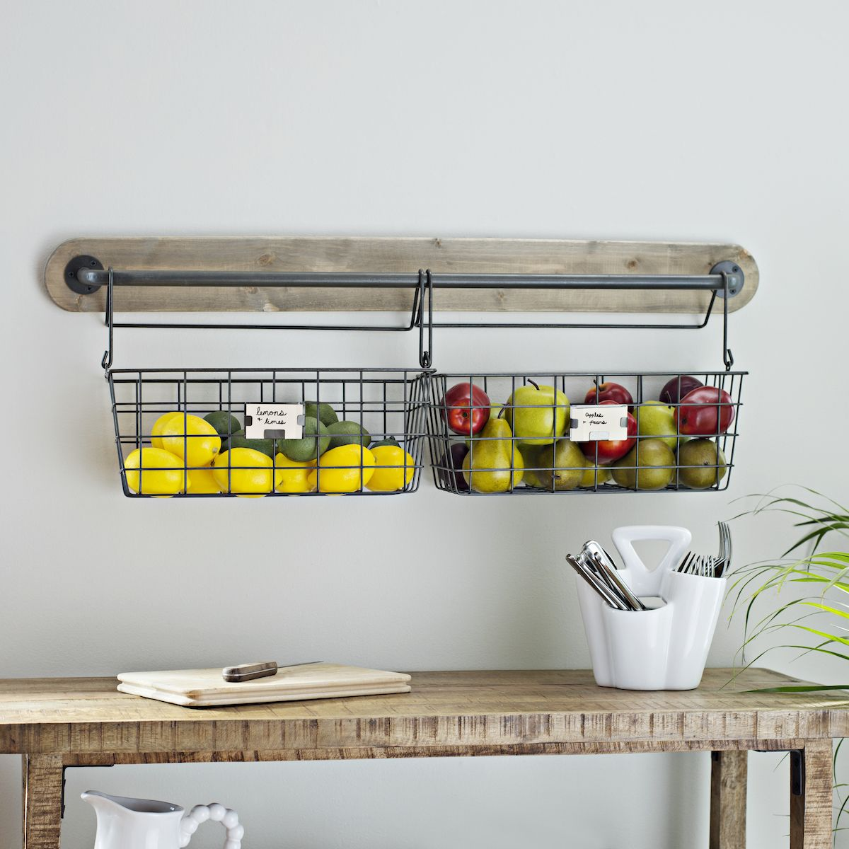 Wire Basket Wall Organizer Baskets On Wall Kitchen Wall Decor Kitchen Baskets