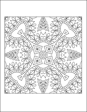 Free Printable Geometric Coloring Pages For Adults Coloring A