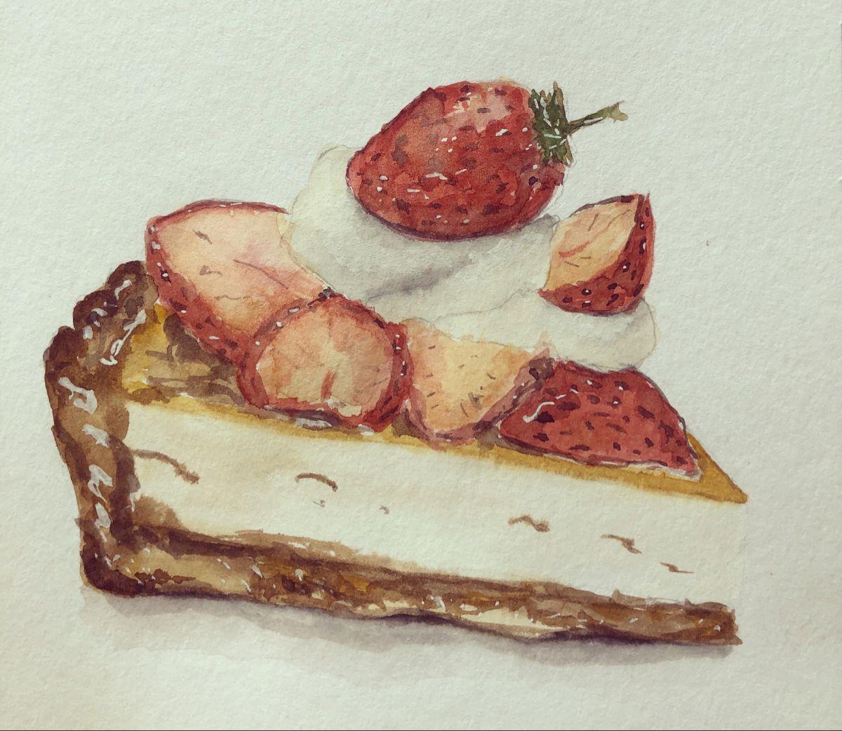#Cake #watercolor #watercolor #watercolorsketch #sketch #illustration #watercolorpainting #watercolorillustration
